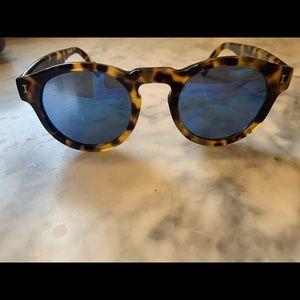 Illesteva Leonard Sunglasses - tortoise with blue